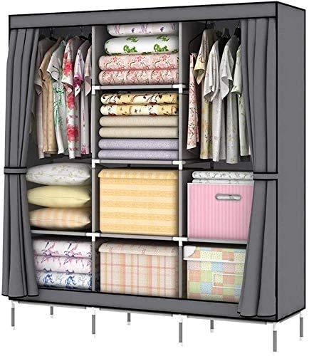 Garderobe tragbar, Self-Storage-Managements, vertikalen Schrank, einfachen Schrank, Stoff Schrank, Klapp Schrank, Gray