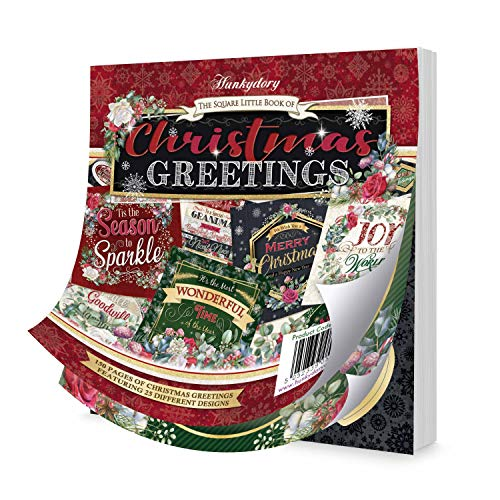 Hunkydory Crafts The Square Little Book of Christmas Greetings