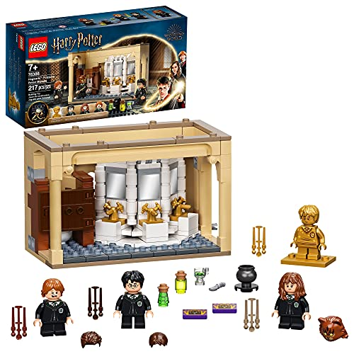LEGO Harry Potter Hogwarts: Polyjuice Potion Mistake 76386 Bathroom Building Kit with Minifigure Transformations; New 2021 (217 Pieces)