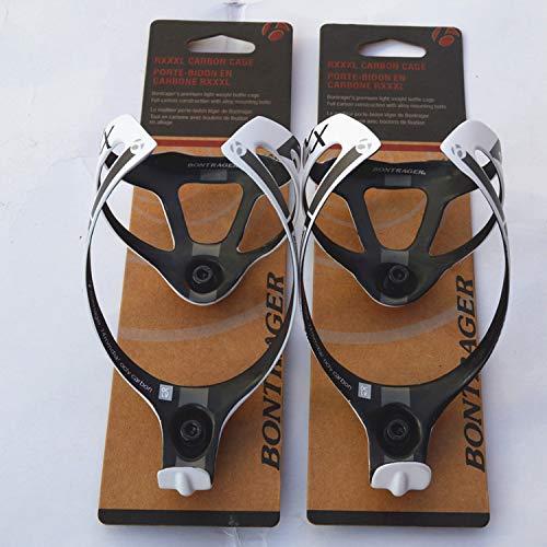 Penveat, supporto porta-borraccia in fibra di carbonio, accessorio per bicicletta, finitura opaca, con confezione, 2colori, 16g, 2 pezzi, unisex, 2PCS white, Taglia unica