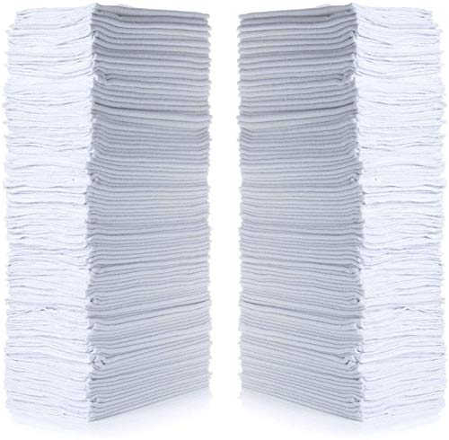 "Simpli-Magic 79006-100PK Shop Towels 14""x12"", White, 100 Pack"