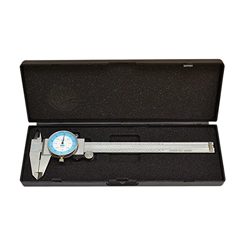 Prolinemax 6'' Dial Caliper 64th Fractional Stainless Steel Hardened Depth Gage Gauge Read 0.01''