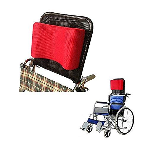 """Rollstuhl Kopfstütze Nackenstütze Kopfpolster Verstellbare Höhe Und Winkel & Portable Für Erwachsene Reise Rollstuhl (Sitzbreite 16""""-20"""") Zubehör,Red"""
