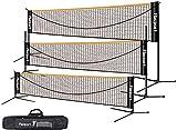 Filet de badminton, filet de tennis 3-6m Filet de badminton de volleyball portable Filet d'entraînement 3 hauteurs réglables