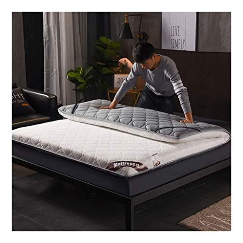 HEJINXL matras, 100% katoen, hypoallergeen gewatteerd, matrasbeschermer, opvouwbaar, hoeslaken, stof, perkal, katoen, stereo 120x200cm Een