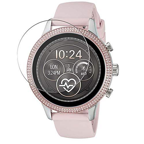 Vaxson, 3 pellicole protettive in vetro temperato 9H per smartwatch Michael Kors MKT5055 Smartwatch, pellicola protettiva in vetro temperato per lo schermo dello smartwatch