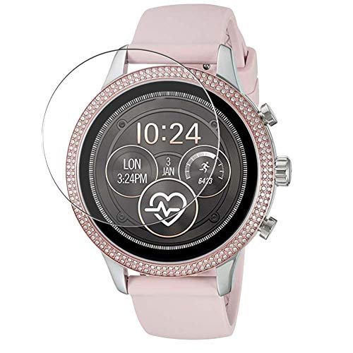 Vaxson 3 Unidades Protector de Pantalla de Cristal Templado, compatible con Michael Kors MKT5055 Smart Watch, 9H Película Protectora Film Guard Nueva Versión