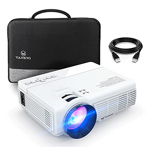 Mini Projector (100' Screen Included), iVANKYO 2021 Upgraded Supports 1080P and 200'' Display,...