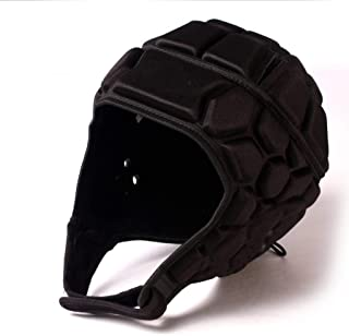 BARNETT Heat Pro Helmet Black M - Soft Padded Headgear - Rugby -Flag Football -7v7 Soft Shell