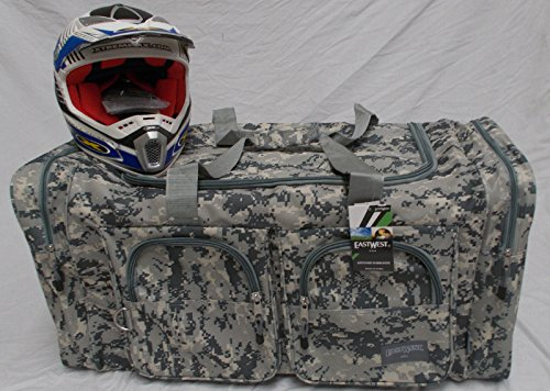 Wingsmarketshop Deluxe Snowmobile XL Motorcycle Atv Gear Bag Motocross Off Road Dirt Bike Grey Camo NEW!