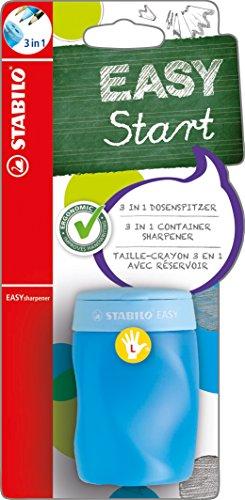 Ergonomischer Dosen-Spitzer für Linkshänder - STABILO EASYsharpener - 3 in 1 - blau
