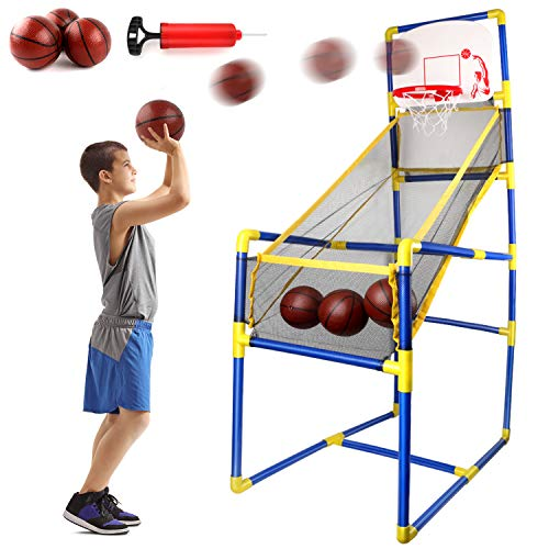Edaick Basketball Hoop Game Indoor Sports Toys for Kids,Basketball Shooting Training System Play Sets Game Toys for Boy and Girls Gift (18.1Inchx35.4Inchx61Inch)