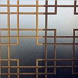 Feuille de verre pâte électrostatique modèle de verre dépoli réutilisable décoration de la maison protection privée bureau à domicile magasin de supermarché film de protection de fenêtre A15 50x100cm