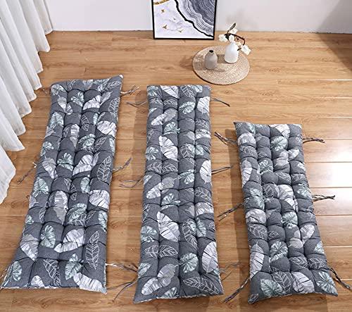 DanChen - Cuscino per panca da giardino, 2 divani a 3 posti, spessore per mobili da esterni, cuscino per sedia a dondolo lungo, comodo materasso rettangolare di ricambio per patio