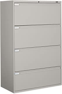 Global Office 9300P 4 Drawer Lateral Metal File Storage Cabinet-Light Grey - Light Grey