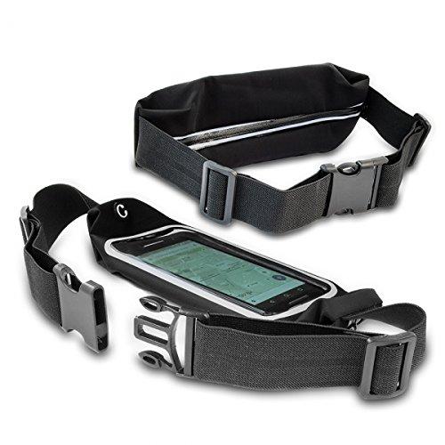 Gütersloher Shop Keeper Neopreno–Riñonera Riñonera Negro Adecuado para Samsung Galaxy J3(2016)–Jogging Deporte Unidad Cinturón Cinturón Funda Funda Protectora