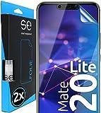 [2 Stück] 3D Schutzfolien kompatibel mit Huawei Mate 20 Lite, hüllenfre&liche durchsichtige HD Bildschirmschutz-Folie, Schutz vor Dreck & Kratzern, kein Schutzglas - smart Engineered