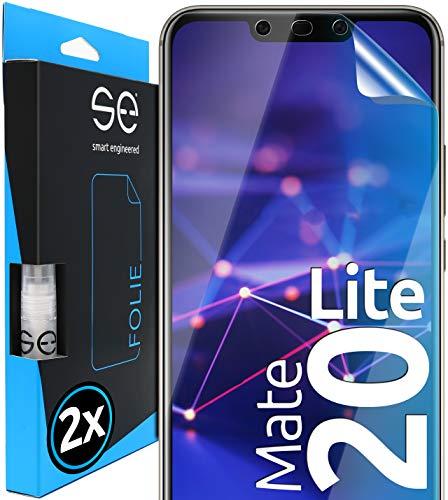 [2 Stück] 3D Schutzfolien kompatibel mit Huawei Mate 20 Lite, hüllenfreundliche transparente HD Displayschutz-Folie, Schutz vor Schmutz und Kratzern, kein Schutzglas - smart engineered