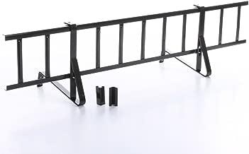 Komplettes Schneefanggitter Set 1,5 m Lang mit 2 Halterungen f/ür Dachsteine und Dachziegel zum Einh/ängen auf der Lattung Gitterh/öhe 15 cm, RAL 8017 Braun