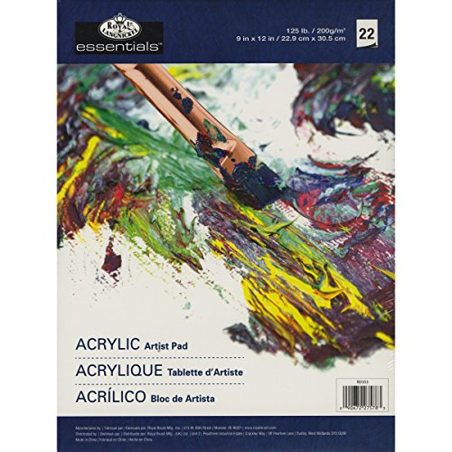 Royal Langnickel 22-Sheet Oil and Acrylic Essentials Artist Paper Pad,...