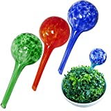 Evelots Plant Watering Globe-Glass-Automatic Water System-Indoor/Outdoor-Set/3