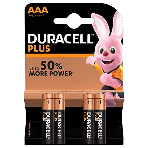 Duracell - Batterie AAA, confezione da 4