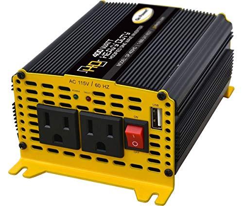 GO POWER! GP-400HD Heavy Duty Modified Sine Wave Inverter, 400 W