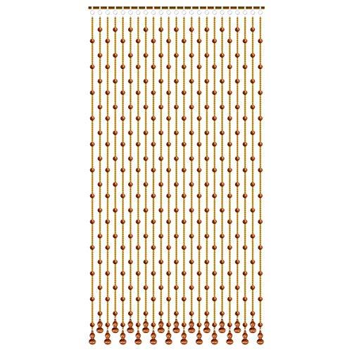 ZXL kralen houten gordijnen en glas kralen kristallen hanger voor deur Decor Divider kamer opknoping snaren woonkamer kast (kleur: A, Maat: 25 strengen-80cmx155cm)