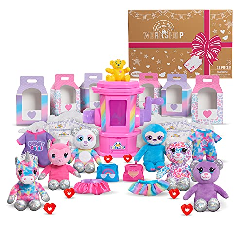 Just Play Build-A-Bear Workshop Deluxe Stuffing Station Party Pack, 38-Pieces, Amazon Exclusive