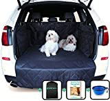 Car Boot Liners for Dogs - Boot Liner and Bumper Protector - 4 Layer Car Boot Cover - Heavy Duty Car Boot Liner with Bumper Flap - Waterproof Non Slip Cover - Universal Fit 4x4 Estate SUV Hatchback