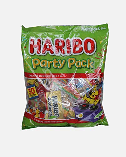 Haribo Giant Pack of Mixed Variety 1.25 kg (50 Mini Bags)