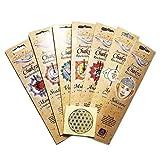 Raumduft Räucherstäbchen Chakra Line Paket 7 Sorten + 1 Aufkleber Blume des Lebens | Ayurvedische Räucherwerk | Meditation Energiezentren aktivieren | Esoterik Geschenke günstig kaufen
