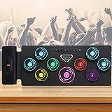 kacsoo batteria elettronica portatile roll up bluetooth wireless un tamburo per tre usi combinazione di batteria jazz, batteria di gioco e batteria d'opera