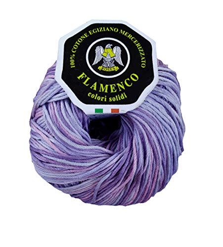Filati roses Cotone Cable 3 Flamenco 100g (Viola sfumato - 110)