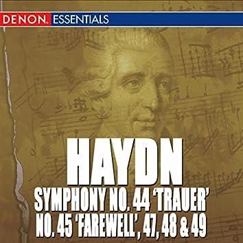 """Haydn: Symphony Nos. 44 """"Trauer"""", 45 """"Farewell"""", 47, 48 & 49"""