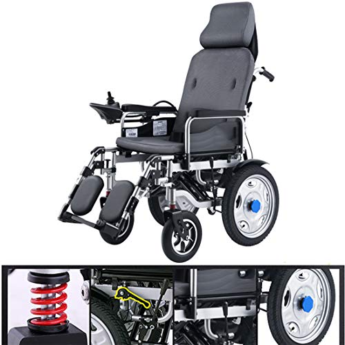HQPCAHL Wheelchairs Electric Folding And Light The Elderly Handicapped Intelligent Automatic Four-Wheeled Scooter,Black