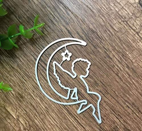 RKZM Halve maan snijden papier messen vorm sterven DIY geperst koolstofstaal messen vorm voorhoofd voor het maken van kaarten 7 x 5,9 cm