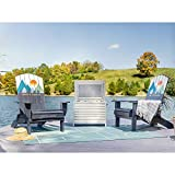 Life is Good 2 Chairs and Cooler Adirondack Blue 3pc (2 Chairs and Cooler) Patio Seating Set, 2 Chairs and Cooler