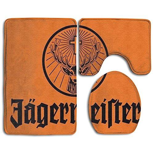 RedBeans Jägermeister Giant groß Flagge Bad Teppich Set 3Stück Bad Teppich Set