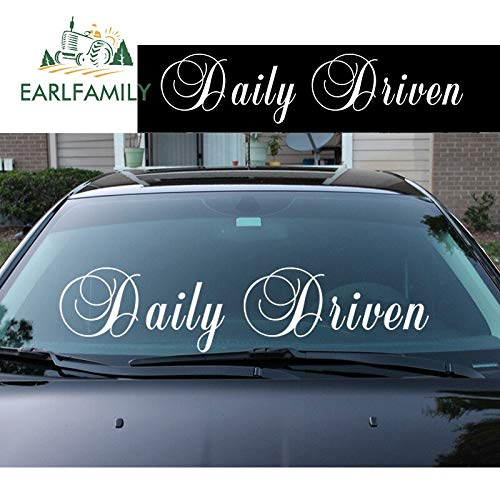 A/X 71cm x 18cm Daily Driven Front Windshield Banner Decal Car Sticker Ek Eg Stance Ek Waterproof Car Accessories