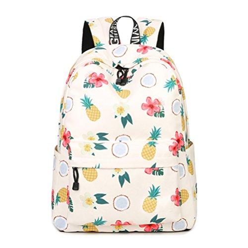 Inwagui Schöne Rucksäcke Mädchen Damen Schultaschen Polyester Freizeitrucksack Schulranzen Kinderrucksack - Ananas