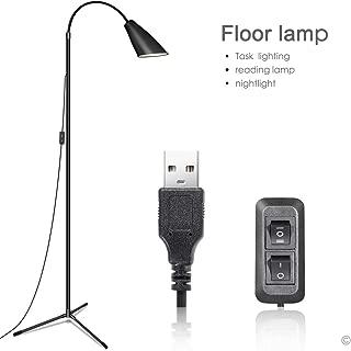 Floor Lamp, Floor Lamp for Living Room Bedrooms, Ebest Torchiere Floor Lamp, LED Reading Floor Lamp with Dimmer (Black)