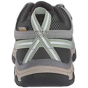 KEEN Women's Targhee 3 Low Height Waterproof Hiking Shoe, Bleacher/Duck Green, 10 US