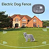 DrTiger 2 Receiver Electric Dog Fence, Dog Containment System, Collar Send Beeps and Shock Correction, Black