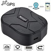 Hangang Localizador GPS para Coche Seguimiento en Tiempo Real Posicionamiento Preciso Monitor Magnético Impermeable a Distancia de 150 Días Standbygps Tracker Smart