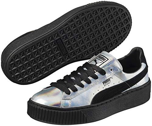 Damen Laufschuhe, color Silber , marca PUMA, modelo Damen Laufschuhe PUMA BASKET PLATAFORM EXPLOSIVE Silber