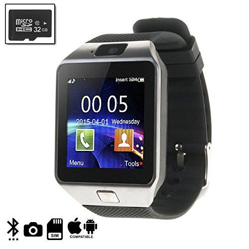 DAM DMIOSN235SD32 Artemis BT Smartwatch voor iOS en Android + 32GB Micro SD Class 10 zilver