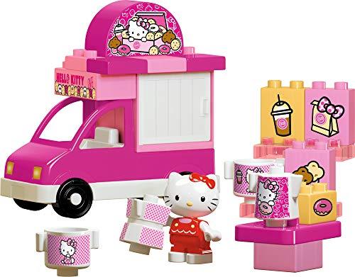 BIG-Bloxx Hello Kitty Eiswagen, Bausteinset mit 26 Teilen inkl. 1 Hello Kitty Spielfigur, verbaubar mit bekannten Spielsteinen für Kinder ab 1,5 Jahren