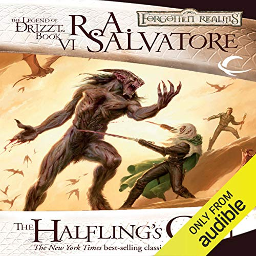 The Halfling's Gem audiobook cover art