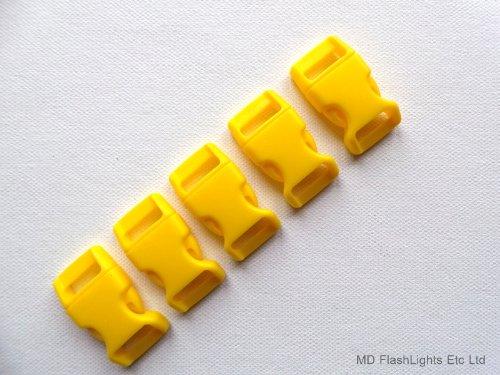 5 x 15 mm 5/8 Boucles de Bracelet incurvées avec Verrouillage Rapide pour paracorde à libération Rapide Idéal pour la Survie
